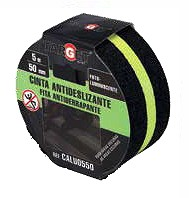 45368210  Cinta Antideslizante 50 mm. x 5 mts Luminiscente