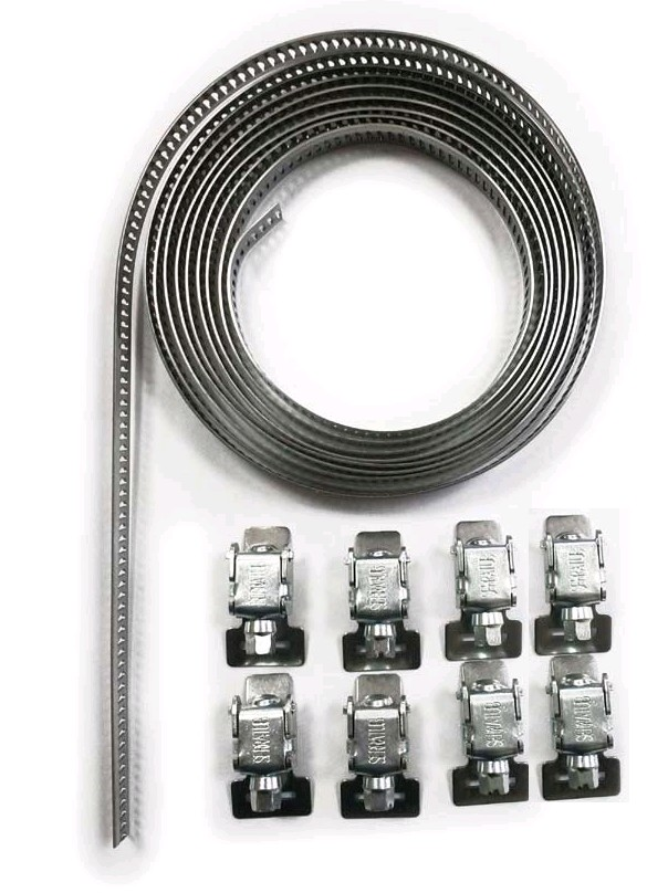50709070  Abrazadera Serratub Kit  9 mm (3mts 8 cierres)