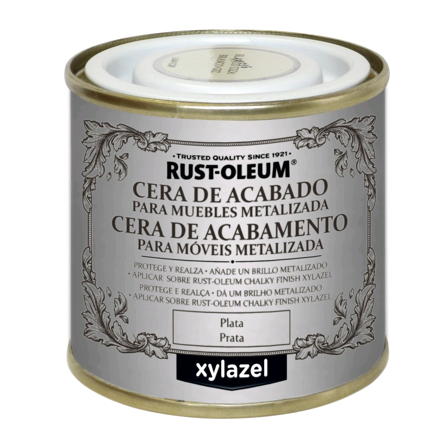 50989750  BRU Cera Chalky Finish Plata 125 ml.