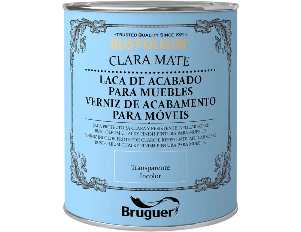 50989780  BRU Barniz Chalky Finish Transparente 125 ml.